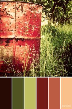 Color Palettes: Autumn Teal + Red #autumncolorpalette - kurbis bemalen