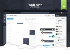 """查看此 @Behance 项目:""""Web Application Dashboard""""https://www.behance.net/gallery/24383389/Web-Application-Dashboard"""