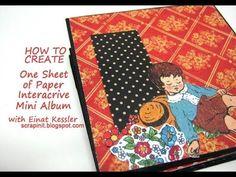 One Sheet of Paper Interactive Mini Album - YouTube