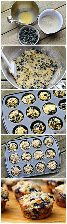 Blueberry Lemon Streusel Muffins Recipe