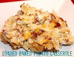 Loaded Baked Potato Casserole - it was easy to make, and very yummy. The recipe does make a lot so my only advice is cut in.half if only feeding a small family.