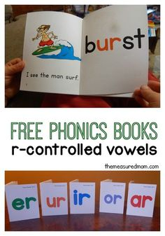 It's tricky to learn to read words with r controlled vowels. Make it fun with these silly books. Free!