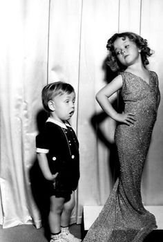 Baby LeRoy and Shirley Temple, C. early 1930's