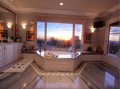 Sensational sunsets and canyon views! #bathroom #bathtubs #interiordesign