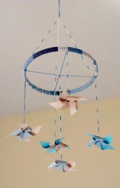 DIY Pinwheel : DIY Pinwheel Cot Mobile