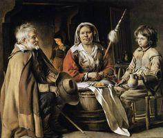 Louis Le Nain, Intérieur paysan. Vers 1642-1645. Huile sur toile. H. 0,556 ; L. 0,647. Washington, National Gallery of Art, Samuel H. Kress Collection, 1952.2.20 © National Gallery of Art