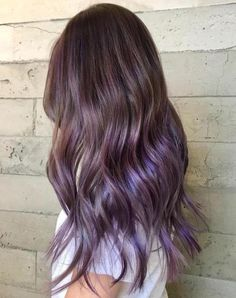 35 Purple Balayage Hair Color Ideas from Subtle to Vibrant, Purple Balayage Hair Color Scrolling to Insta is literally a Purple Brown Hair, Medium Brown Hair, Brown Blonde Hair, Brown Hair With Highlights, Light Brown Hair, Brown Hair Colors, Purple Tinted Hair, Subtle Purple Hair, Purple Hair Streaks