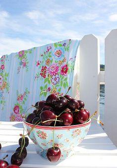 Cherries and bedsheets