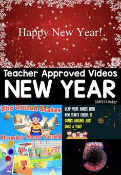 Teacher Approved list of New Years Videos for Kids from Simply Kinder