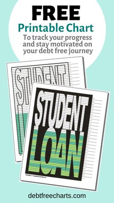 Say goodbye to your Student Loan! Stay motivated and fired up to pay it off and get it out of your life for good. Grab this free chart to track your progress and I bet you'll reach your goal faster! Best Student Loans, Private Student Loan, Federal Student Loans, Student Loan Debt, I Wish You Well, Budgeting Worksheets, Financial Peace, Get Out Of Debt, Scholarships For College