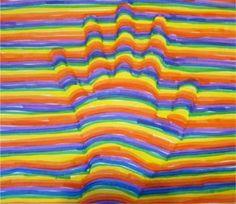 Optical Illusion Hand Art · Lesson Plans | CraftGossip.com
