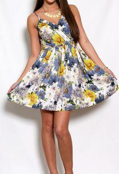 Allena Printed Sun Dress