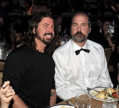 Dave Grohl and Krist Novoselic attend�Clive Davis and The Recording Academy's Pre-GRAMMY Gala on Jan. 25 in Beverly Hills, Calif.