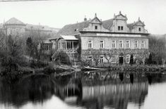 Kajetanka Old Pictures, Czech Republic, Historical Photos, Most Beautiful Pictures, Mansions, Black And White, Landscape, City, Photography