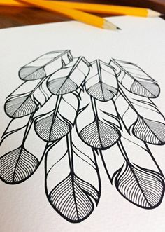 stylised feathers illustration 'hope' feathers by lightboxing