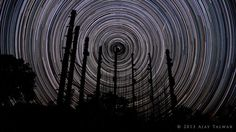 Star Trails from India. Astrophotography Workshop in the Himalayas - conducted by the author, 21-23 March 2014. Details - www.aperturetelesc...