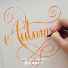 Arte de caligrafía underwear clipart - Under Wear Calligraphy Video, Calligraphy Drawing, How To Write Calligraphy, Calligraphy Handwriting, Calligraphy Letters, Penmanship, Cursive, Creative Lettering, Lettering Styles