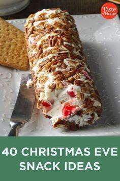 40 Christmas Eve Snack Ideas Holiday Snacks, Christmas Party Food, Christmas Dishes, Xmas Food, Christmas Appetizers, Christmas Sweets, Christmas Cooking, Holiday Recipes, Christmas Recipes