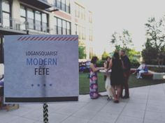 So excited to be in this amazing space tonight! #lsqmodernfete #logansquare #logansquarist