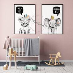 Safari Nursery, Prints Set of 5, Baby Girl, Safari Animals, Printable Wall Art, Digital Prints, Kids Room Decor, Safari Baby Shower Zebra Nursery, Lion Nursery, Bunny Nursery, Baby Zebra, Safari Nursery, Nursery Wall Decor, Nursery Prints, Room Decor, Nursery Art