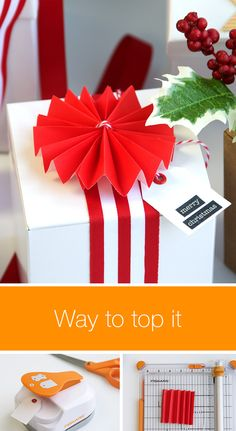 Make each present look gorgeous with our DIY gift toppers. These bows, ribbons and holiday tags add the finishing touch to a thoughtful gift! They're also easy to make and require minimal materials. Click in to get started. Wrapping Gifts, Wrapping Ideas, Thoughtful Gifts, Christmas Tag, Diy Tutorial, Handmade Gifts, Ribbons, Cheer, Minimal