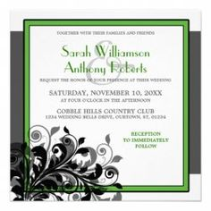 Emerald Wedding Invitation - simply gorgeous.