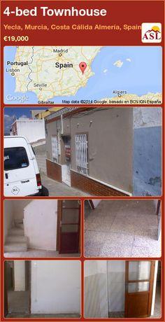 4-bed Townhouse in Yecla, Murcia, Costa Cálida Almería, Spain ►€19,000 #PropertyForSaleInSpain
