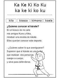Estudio de la letra k (Ficha Nº 29 Complementaria al Silabario)