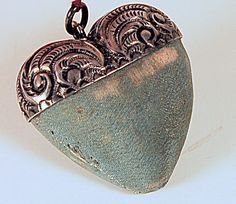 Image Detail for - sterling heart pin cushion (Vintage Sewing-Pin Cushions) at Search .