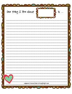 The first page is for students to write kind thoughts about their classmates. This can be done in addition to an autograph page. Provide students w...