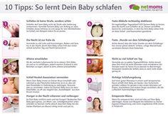 10 Tipps, mit denen Dein Baby schlafen lernen kann. Auch als Übersicht zum Ausdrucken!