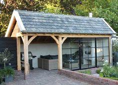 19 Ideas Exterior Design Backyard Garage For 2019 Backyard Pavilion, Backyard Patio, Best Exterior Paint, Exterior Design, Outdoor Rooms, Outdoor Living, Outdoor Decor, House With Porch, Garden Buildings