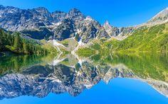 Scarica sfondi Parco Nazionale di Tatra, Lago Morskie Oko, estate, Monti Tatra, Polonia