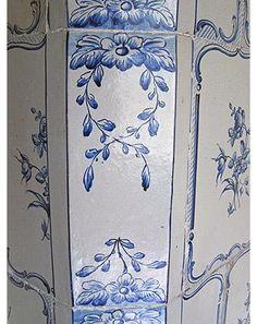 Corner tile motif - Antique Swedish tiled stoves - Product gallery - Lindholm Kakelugnar