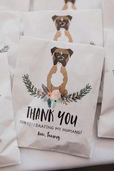 Favor Doggie Bag, Confetti Bag, Gift from your Pet, Custom Illustration, Pet Favor Bag - Dream Wedding Ideas Dog Wedding, Fall Wedding, Wedding Ceremony, Dream Wedding, Reception, Wedding Weekend, Elegant Wedding, Wedding Table, Wedding Favors For Guests
