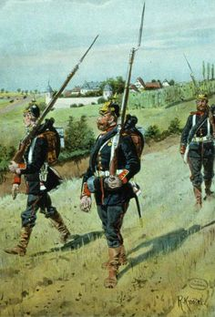 German; Brandenburg Infantry Regiment 1871 in the vicinity of the Bavarian Weissenburg by Richard Knotel
