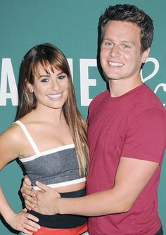 LEA MICHELE AND JONATHAN GROFF showed off their tight bond during an event at Barnes & Noble Union Square in New York City which celebrated Michele's new book Brunette Ambition. Jonathon Groff, Brunette Ambition, Lea Michele Glee, Glee Club, Dianna Agron, Cory Monteith, Union Square, Sarah Michelle Gellar, Celebrity Moms