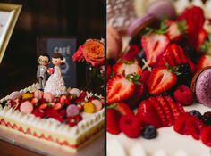Colorful Fruit, Let Them Eat Cake, Raspberry, Wedding Cakes, Events, Food, Wedding Gown Cakes, Meal, Wedding Pie Table
