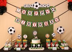 Soccer Birthday Party Package Personalized FULL Collection Set - PRINTABLE DIY - PS834CA1x. $35.00, via Etsy.