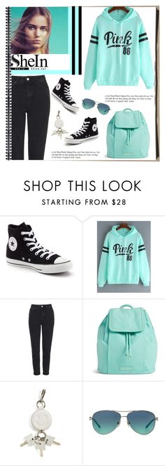 """""""Untitled #555"""" by veronica7777 ❤ liked on Polyvore featuring Converse, Topshop, Vera Bradley, Alexander Wang and Tiffany & Co."""