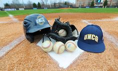 New talent steps up to the plate for UNCG baseball Step Up, Athletics, Riding Helmets, Plate, Baseball, Dishes, Plates, Dish