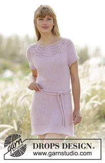 Cornelia knitted dress pattern, free from Garnstudio