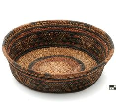 Africa | Basketry container from the Kanur, Maïduguri of Nigeria | 20th century