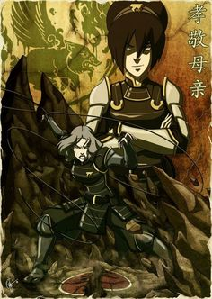 Mother and daughter. Toph and Lin Beifong.