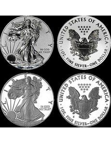 It will be interesting to see how the secondary market reacts to the 2012 American Eagle San Francisco Two-Coin Silver Proof set containing one Reverse Proof 2012-S coin, top, and one Proof 2012-S coin, bottom.