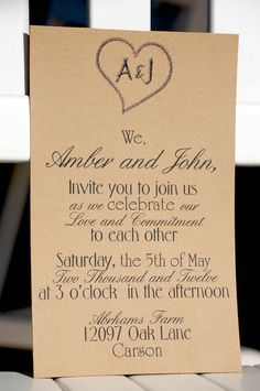 Invite wording..... just add cake and tea reception to follow...