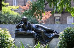 """Nathan_Arrington posted a photo:  INSTAGRAM TUMBLR TWITTER  ----------  """"Isidor and Ida Straus"""" Monument  sculptor: Augustus Lukeman, 1913  architect: Evarts Tracy  Dedicated: 1915  Foundry: Jno. Williams Inc.  Straus Park  Upper West Side - Manhattan  Broadway, West End Avenue,& 106th Street  New York City, New York  -----------  Bench inscription:  IN MEMORY OF ISIDOR AND IDA STRAUS / WHO WERE LOST AT SEA IN THE TITANTIC DISASTER APRIL 15, 1912 / LOVELY AND PLEASANT WERE THEY IN THEIR…"""