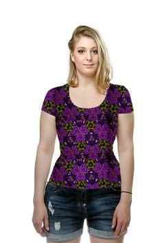 #Kaleidoscope #Flowers in #Purple #fashion #womensfashion #shirt #tee #tshirt