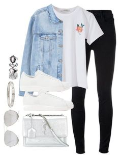 """Untitled #3681"" by theaverageauburn on Polyvore featuring J Brand, MANGO, adidas Originals, Yves Saint Laurent, Sunny Rebel and Cartier #casualoutfits"