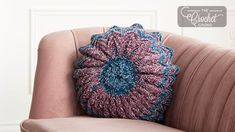Free Crochet Pattern for a Round Pleated Pillow. Skill Level: Easy Make a silky smooth crochet pillow in Bernat Velvet. Pretty round throw pillow with pleats. Free Pattern More Patterns Like This! Crochet Pillow Pattern, Easy Crochet Patterns, Crochet Ideas, Pillow Patterns, Tutorial Crochet, Afghan Crochet, Crochet Tutorials, Sewing Patterns, Double Crochet